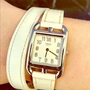Hermes Cape Cod Double Tour White Watch